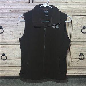 Northface vest dark brown